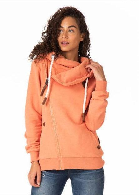 Wanakome Athena Terry Dusted Clay Zip Hoodie