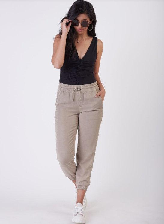 Dex Soft Drawstring Jogger - light stone
