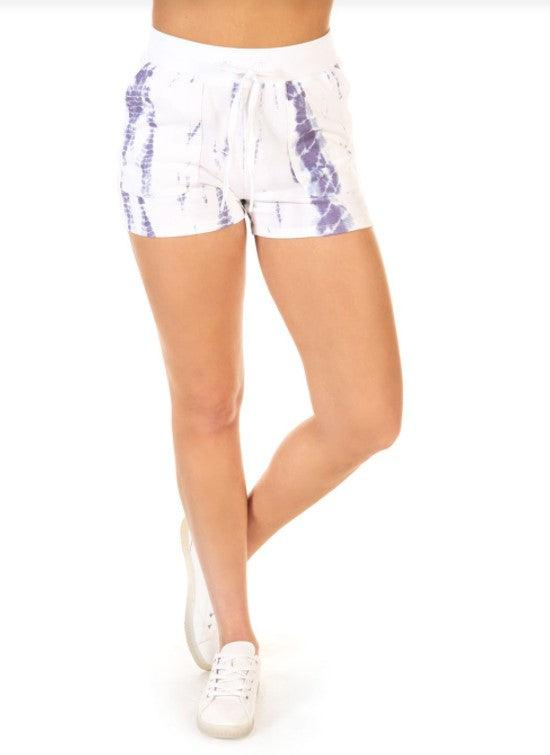 Dex printed cloud dye short - indigo tie dye
