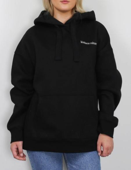"Brunette the Label ""Inspire us"" Big Sister Hoodie - Black"