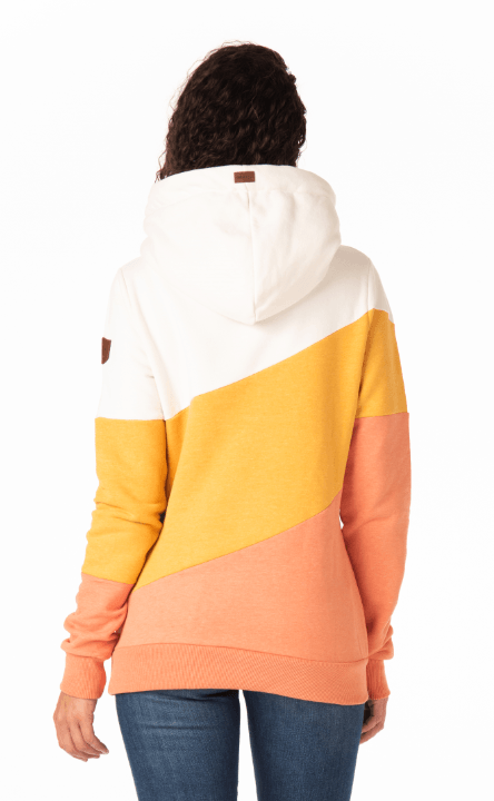 Wanakome Terry Color block Pullover Hoodie in Sunflower