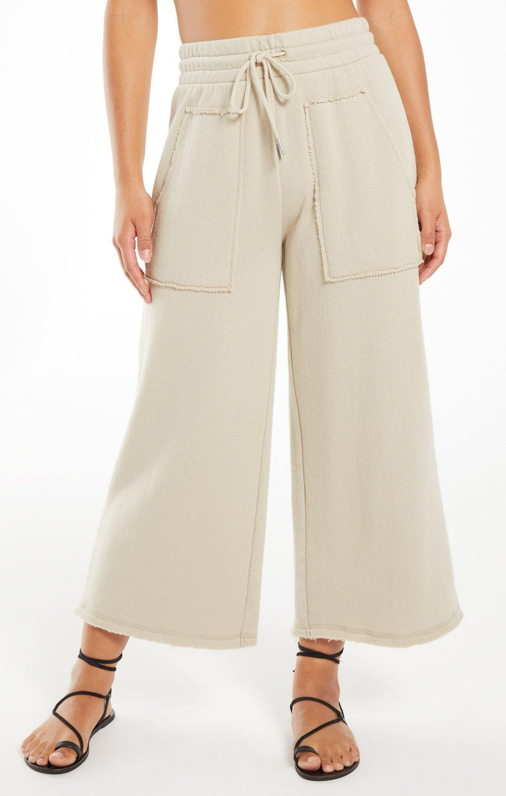 Z Supply Paloma Loop Terry Pant - Green Tea