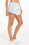 Z Supply Sadie Spiral Tie-Dye Short - blue agave