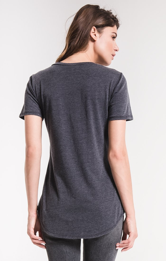 Z Supply black iris pocket tee