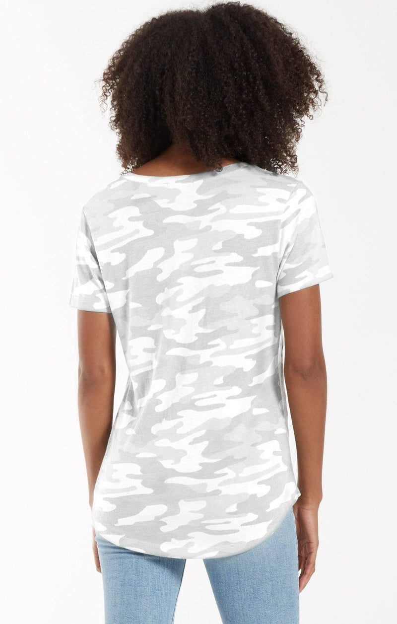 Z Supply Camo Pocket Tee - Dove Grey