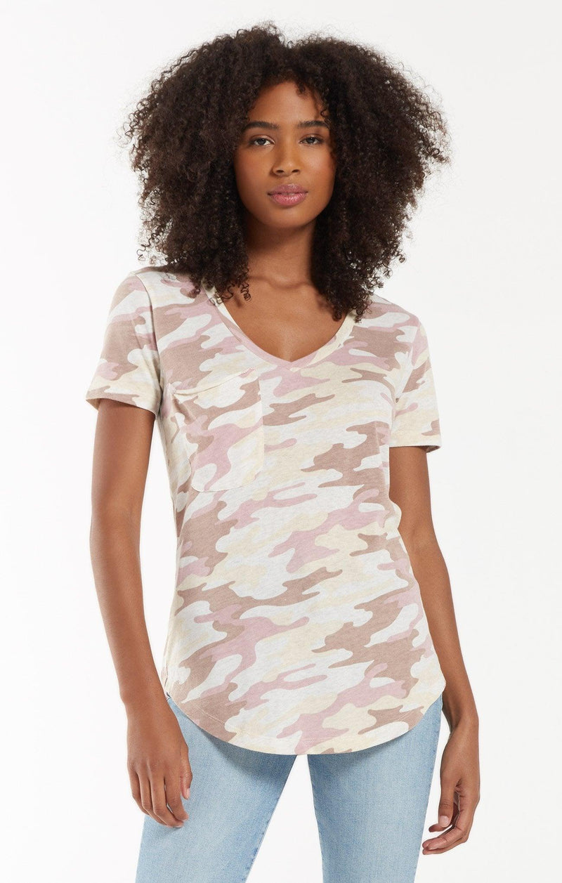 Z Supply Camo Pocket Tee - Camo Mauve