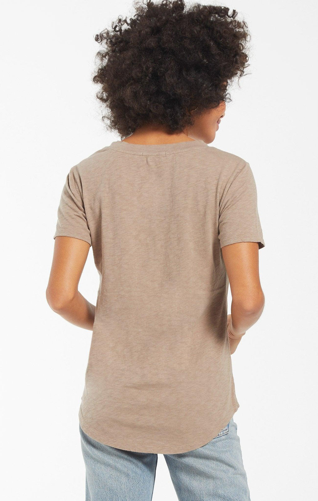 Z Supply Cotton Slub Pocket tee - Taupe