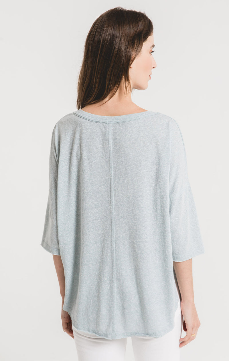 Z supply sand washed blue triblend sporty tee