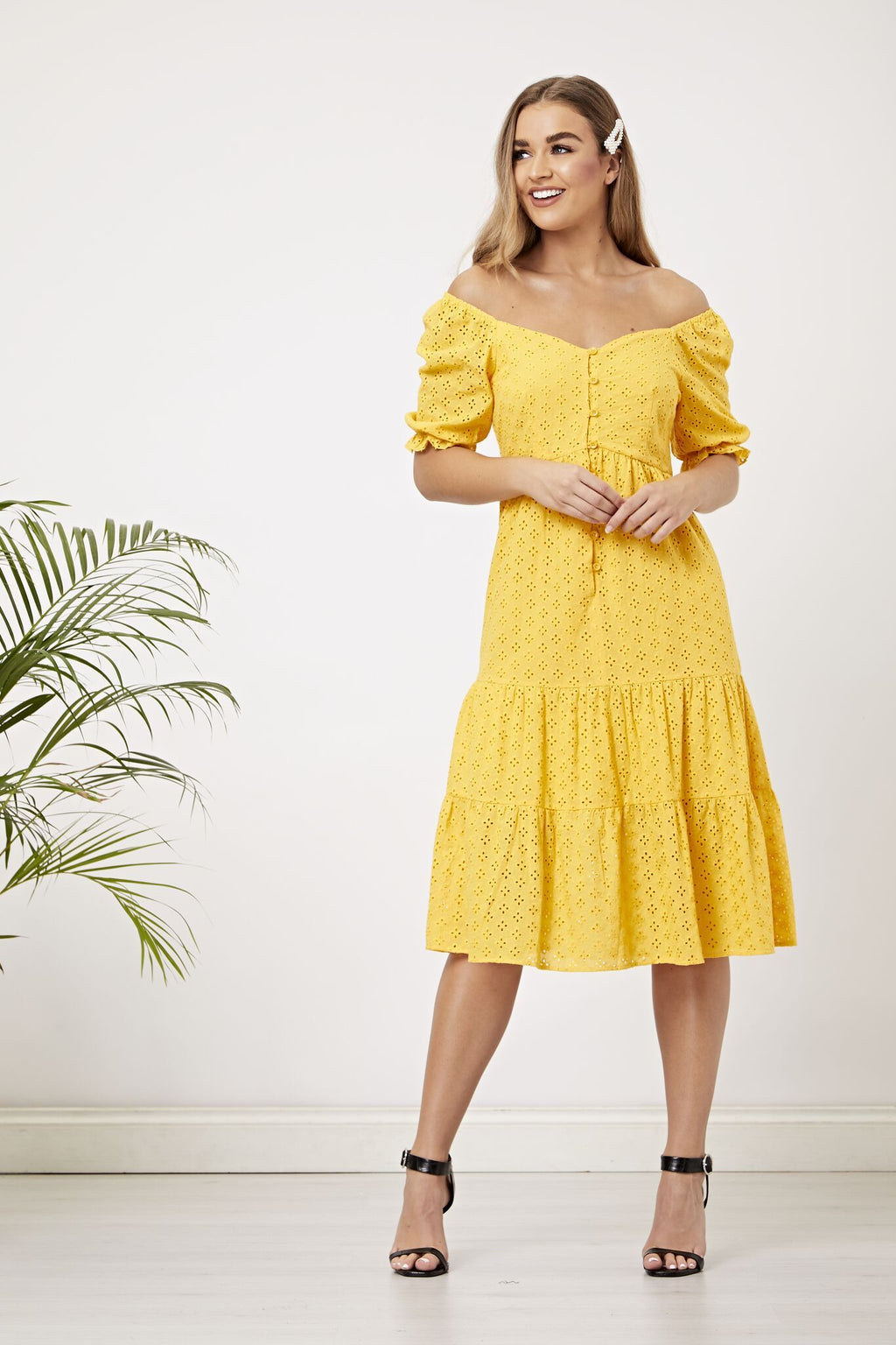 AngelEye yellow midi dress