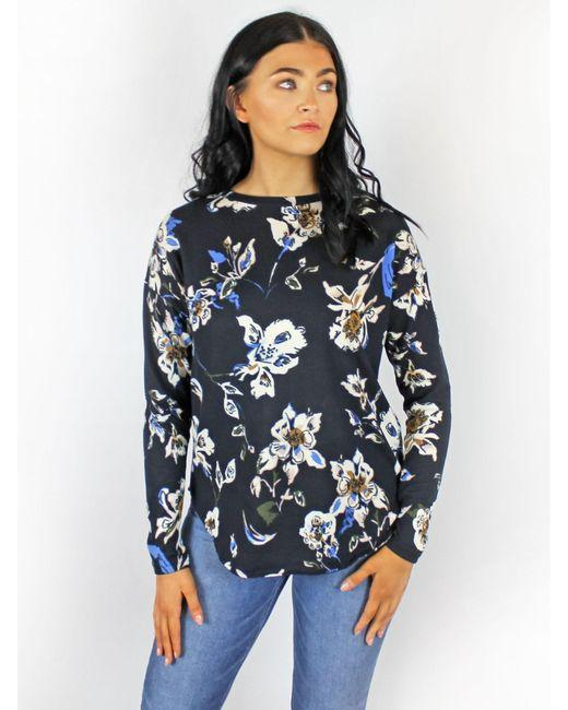 B Young Floral Pullover in Copenhagen Night