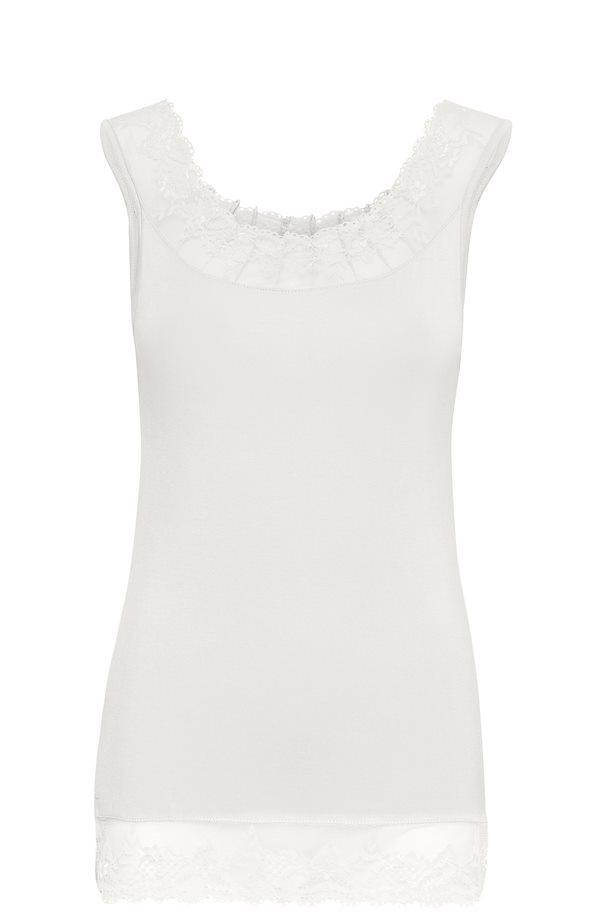 Cream chalk white florence top