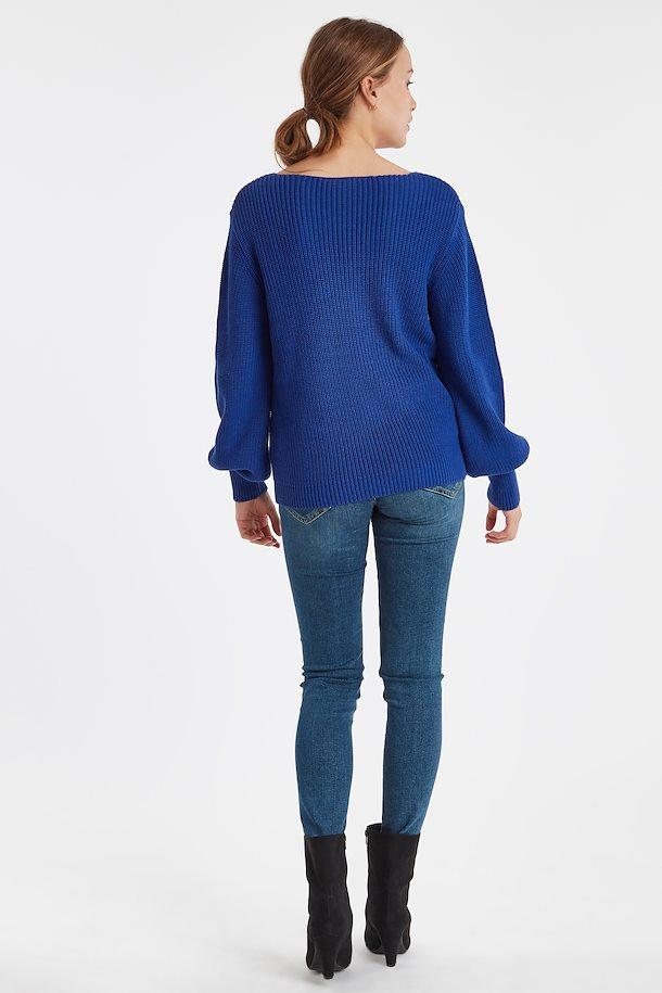 Ichi clematis blue knit pullover