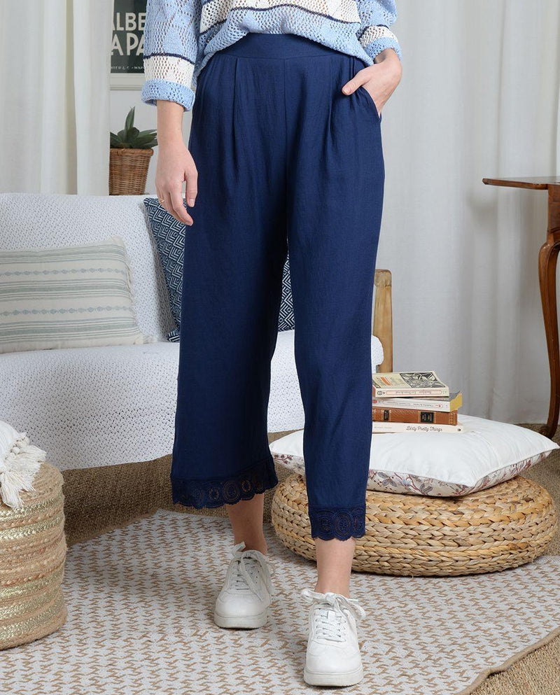 Molly Bracken Fluid Pants - navy blue