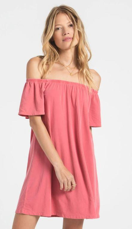 Z Supply Layla Jersey Dress - Tea Rose