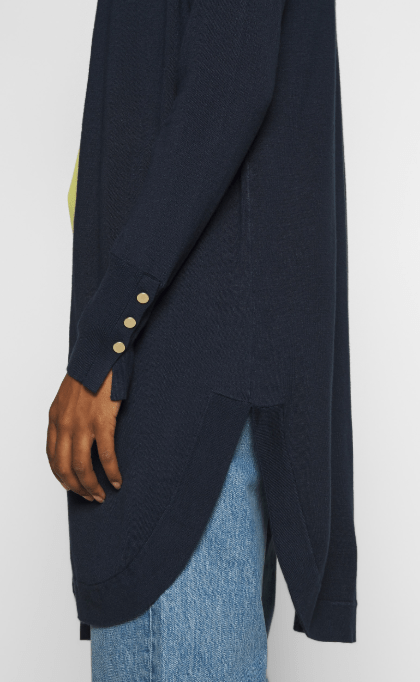Kaffe Midnight Marine Knit Cardi W/ Button Detail
