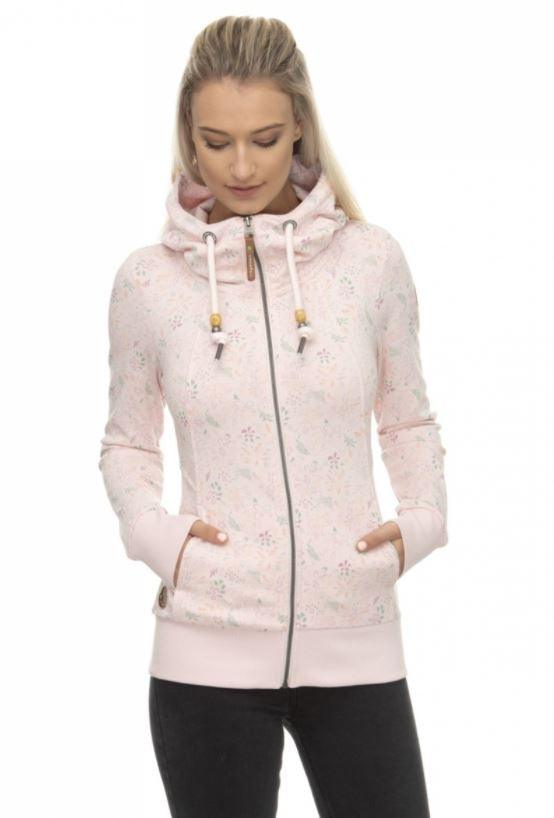 Ragwear Liberty Organic zip up - light pink