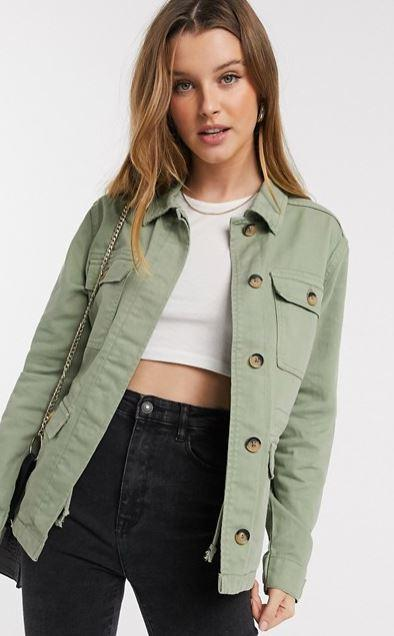 B Young olive jacket