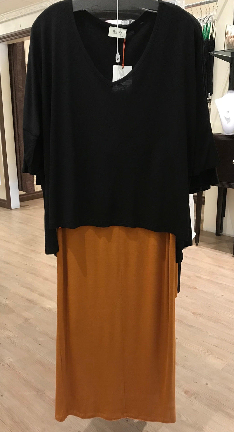 Maevy Curry Bamboo Skirt