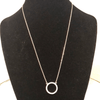 Tiny crystal circle necklace