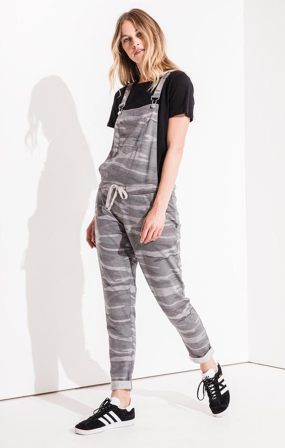 Z SUPPLY grey camo overalls