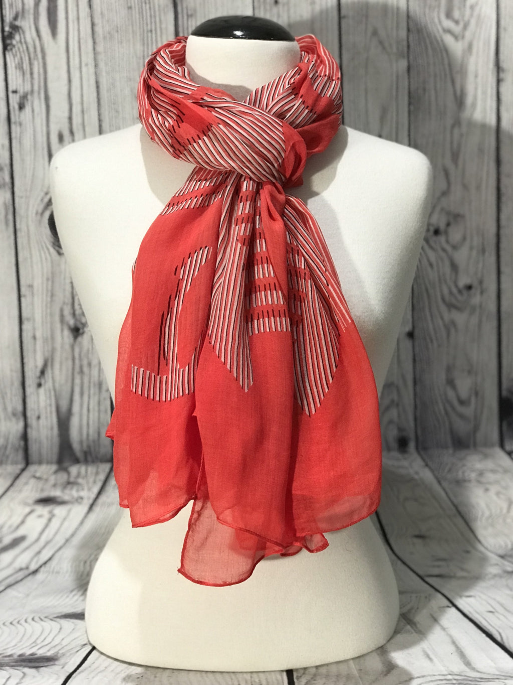 Poppink printed scarf