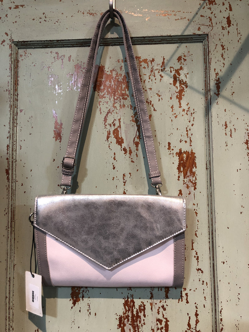 Merx Silver/Lt Pink Crossbody purse