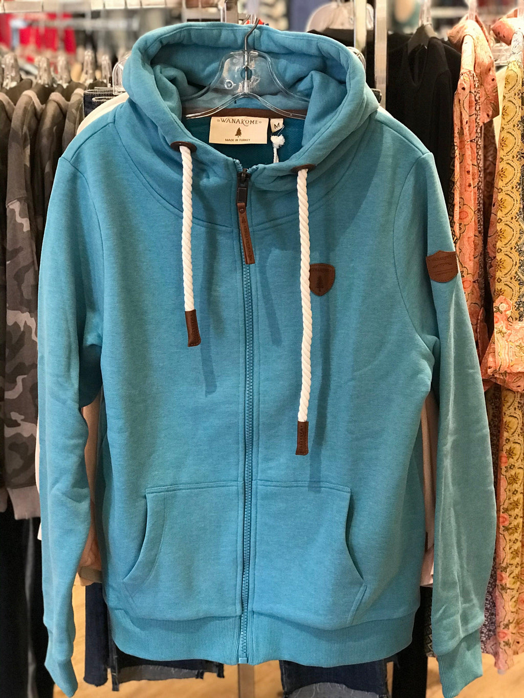 Wanakome Zeus Terry Zip up Hoodie - Biscay Bay