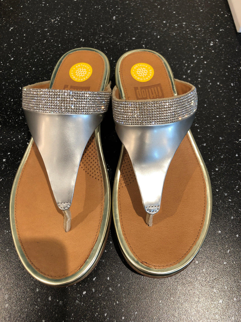Fitflop Pale Gold Banda Micro Crystal Toe Post