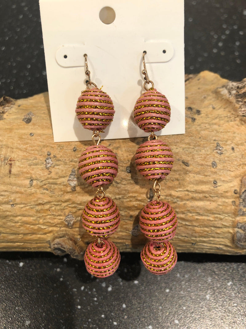 Garbo ball drop earrings