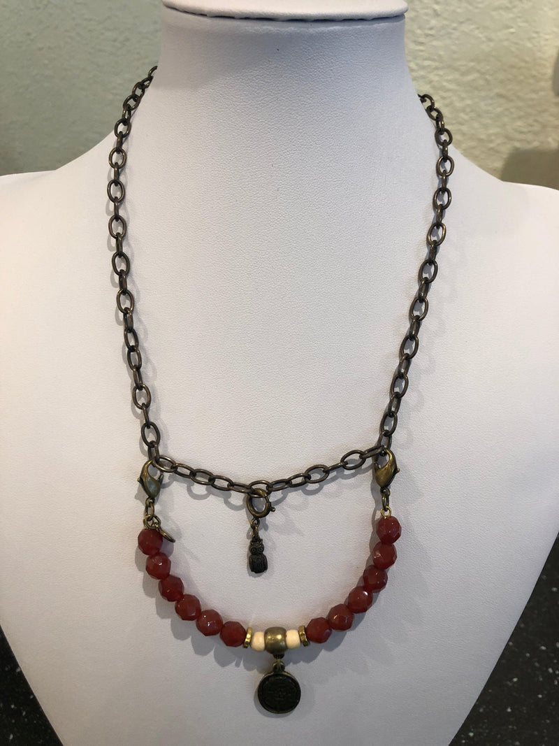 Lenny and Eva bead pendant necklace