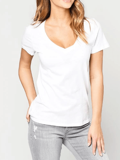 Z Supply the perfect v-neck t-shirt white