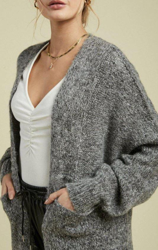 Sage The Label Cardi - Heather Grey