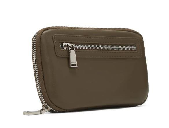 Co-Lab smooth world wallet / olive