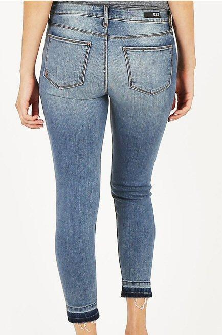 Kut From the Kloth innovative Diana kurvy crop skinny jeans with released hem