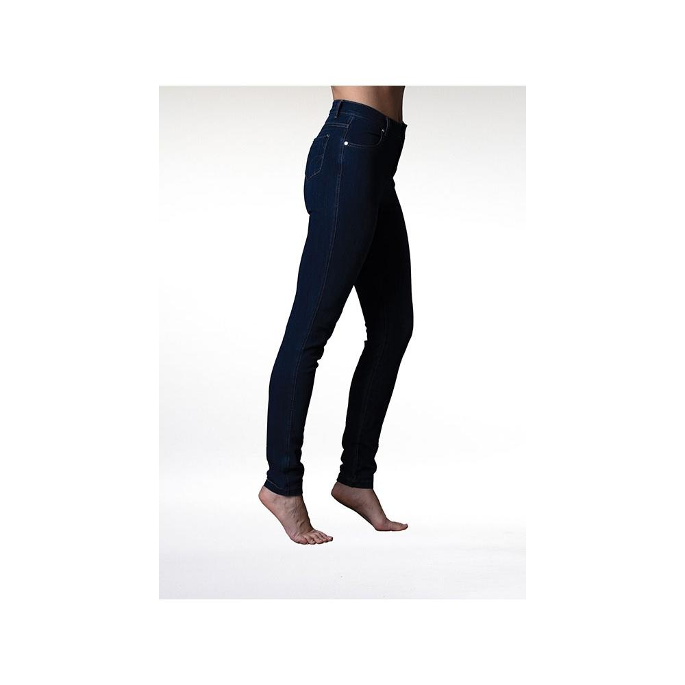 Marble five pocket skinny blue jeans