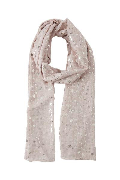 B Young Star Print Scarf in Rose Cloud