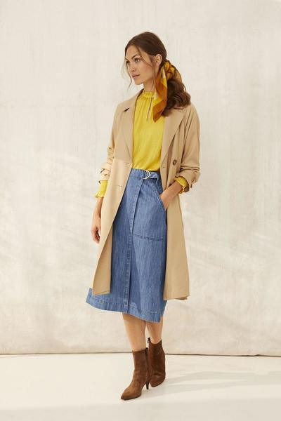 Part Two light blue denim skirtwith pockets