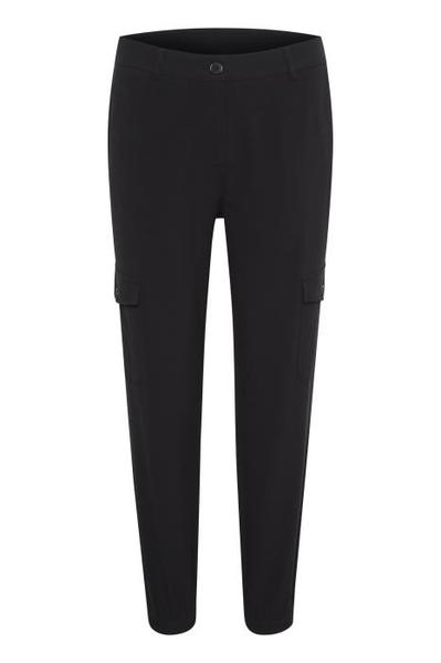 Kaffe black deep pants with leg pockets