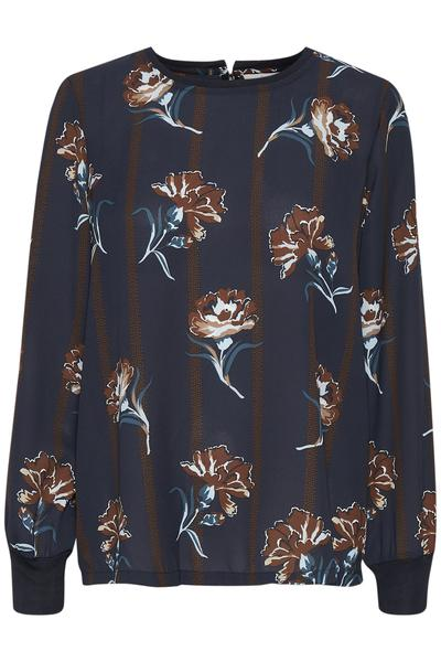 Kaffe midnight marine floral blouse