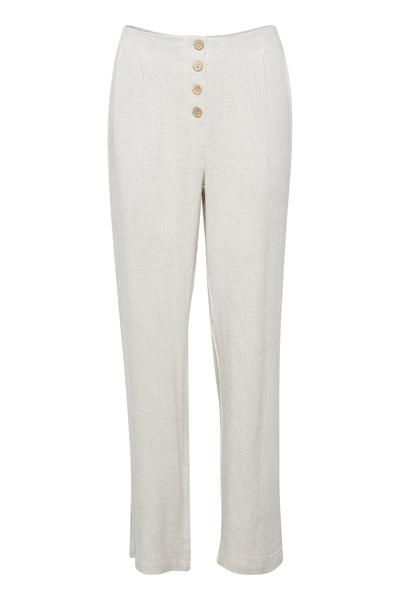 Cream natural flowy pull on pants