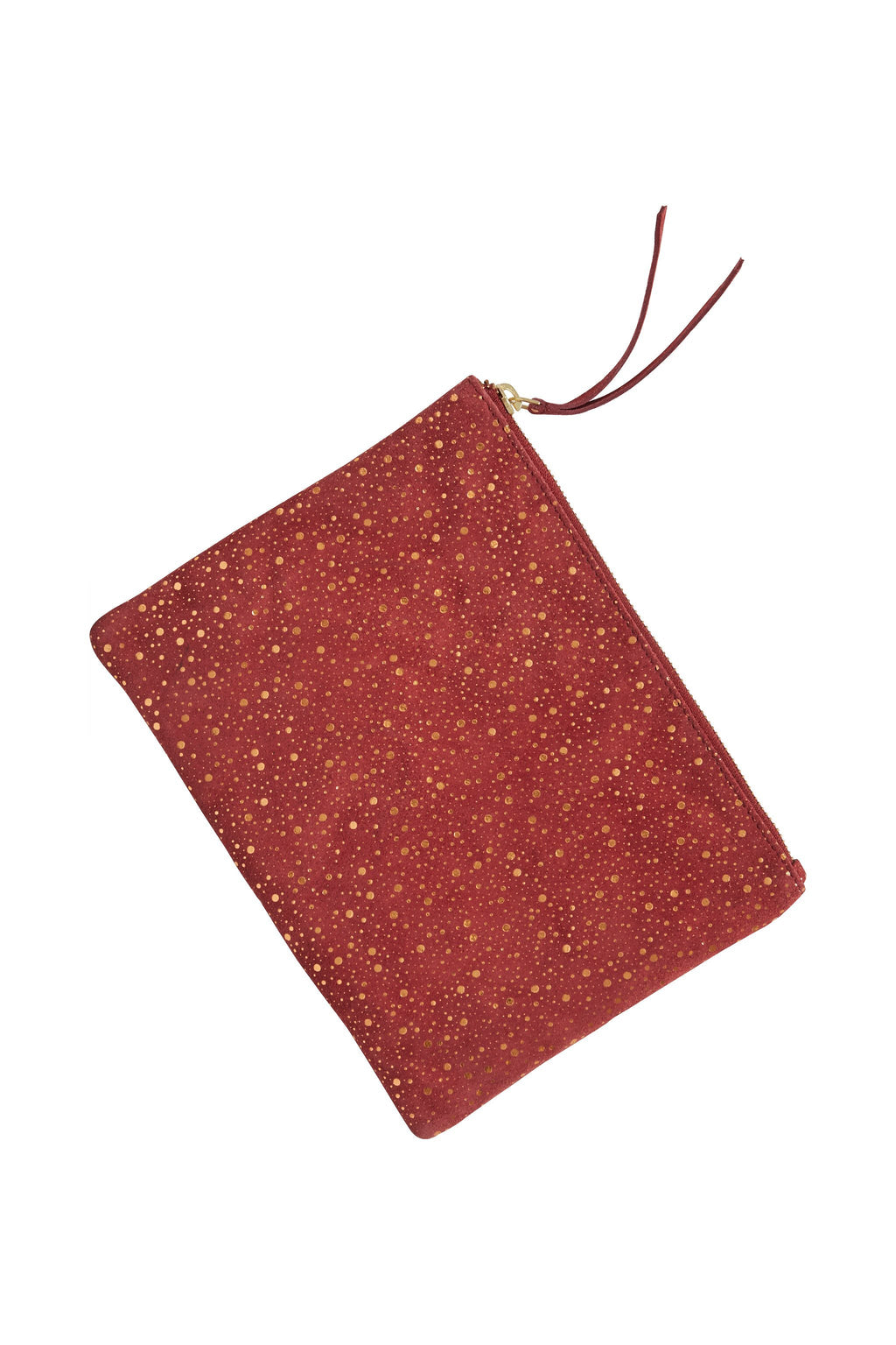 Ichi Red Glitter Suede Leather Bag