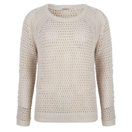 Esqualo Natural Open Stitch Raglan Sweater