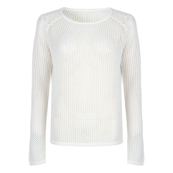 Esqualo Off White Open Stitch Sweater