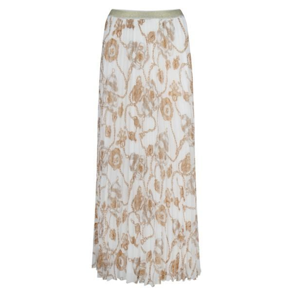 Esqualo Plisse Long Chain Maxi Skirt