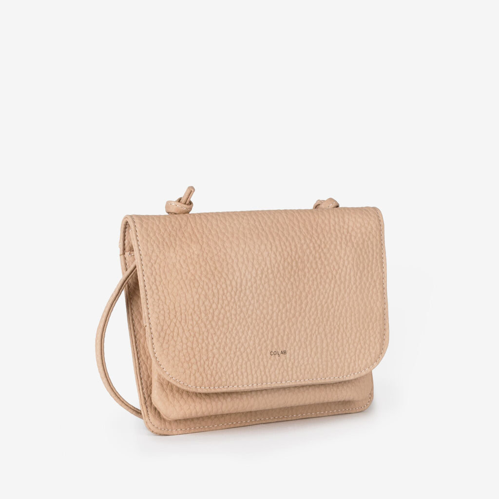Co-Lab nude cross body carryall