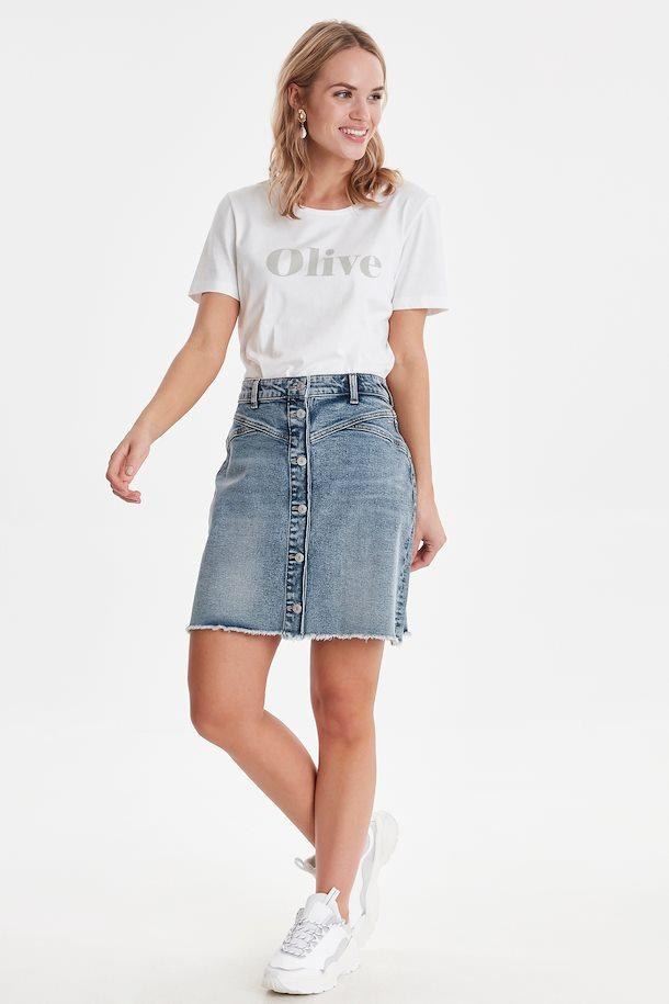 B Young vintage blue jean skirt