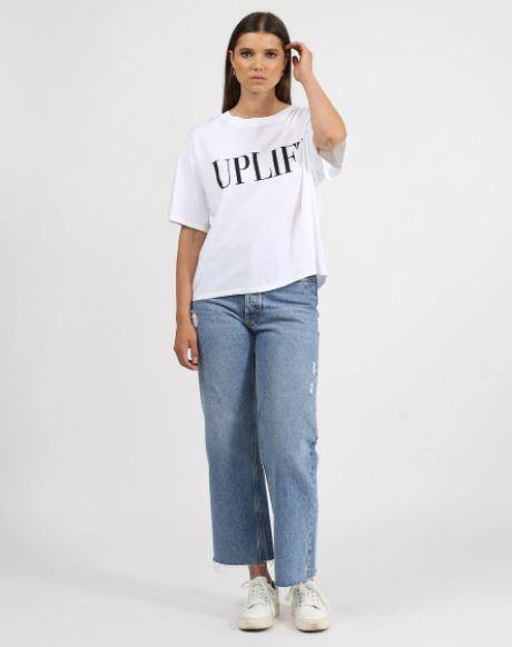 Brunette the Label Uplift Boxy Crew Neck Tee.
