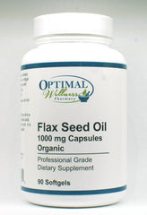 Flax Seed Oil (1000 mg / 100% Organic / Lignan Rich Virgin Oil)