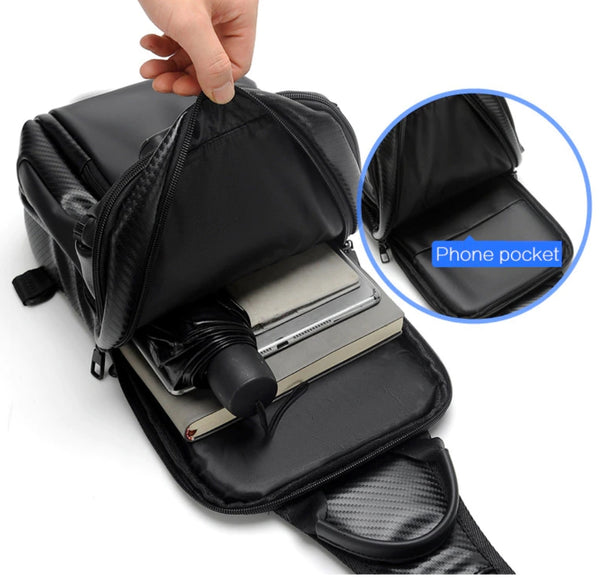 Sling Backpack SUUTOOP with USB Charging Port
