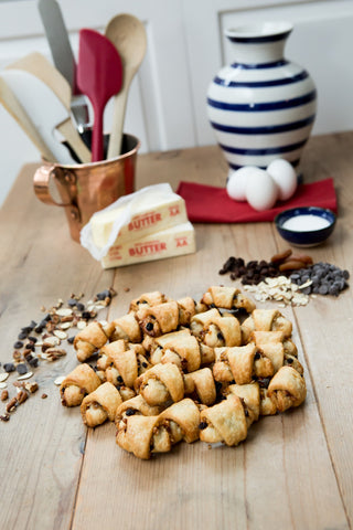 Traditional Rugelach (Apricot, Currant, Walnut)